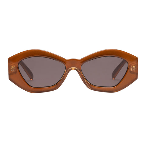 Le Specs Female The Ginchiest Tan Cat-eye Sunglasses