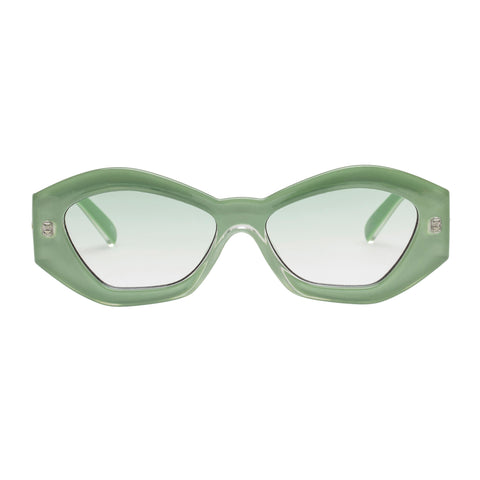 Le Specs Female The Ginchiest Green Cat-eye Sunglasses