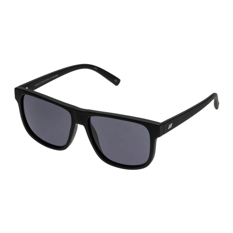 Le Specs Male What's The Story Black Modern Rectangle Sunglasses