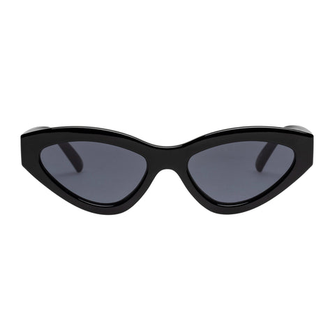 Le Specs Female Synthcat Black Cat-eye Sunglasses