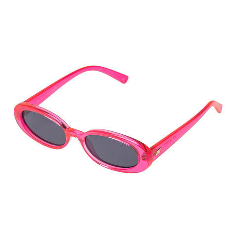 Le Specs Female Outta Love Pink Oval Sunglasses