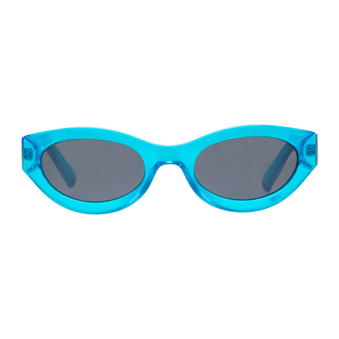 Le Specs Uni-sex Body Bumpin Blue Wrap Fashion Sunglasses