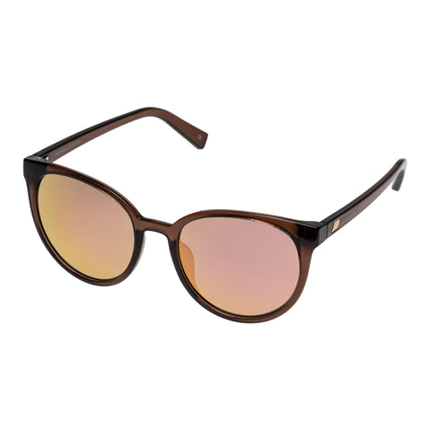 Le Specs Female Armada Tan Round Sunglasses