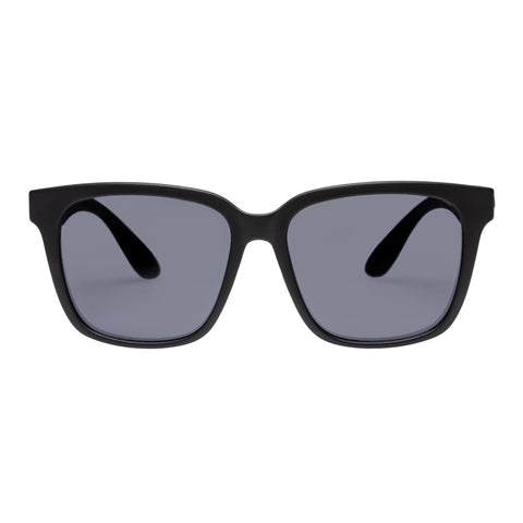 Le Specs Uni-sex Overboard X Amazon Black Modern Rectangle Sunglasses