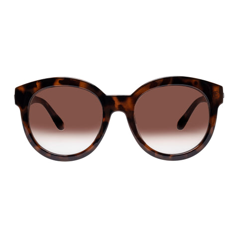 Le Specs Female Together Again Amazon Tort Round Sunglasses