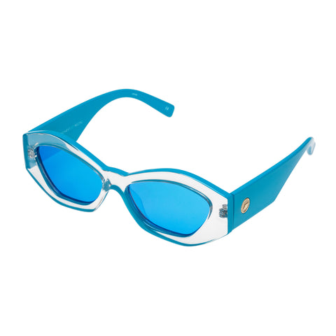 Le Specs Female The Ginchiest Blue Cat-eye Sunglasses