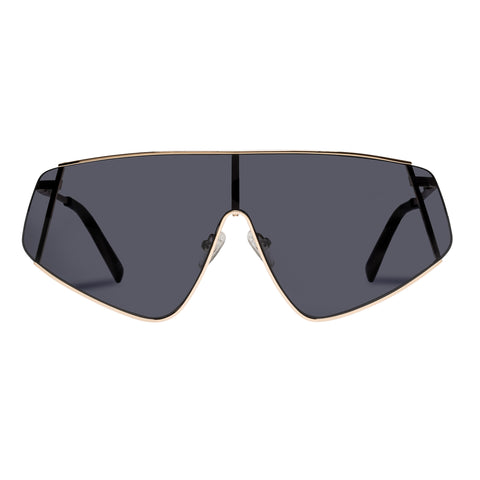 Le Specs Uni-sex Bladestunner Gold Shield Sunglasses