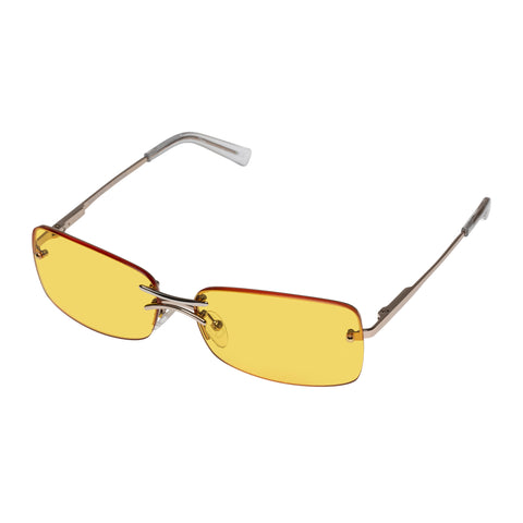 Le Specs Female That's Hot Gold Wrap Fashion Sunglasses