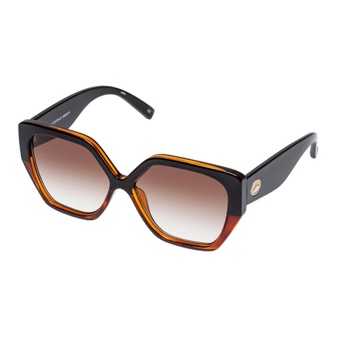 Le Specs Female So Fetch Tort Square Sunglasses