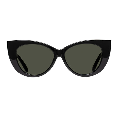 Le Specs Female Feline Fine Black Cat-eye Sunglasses