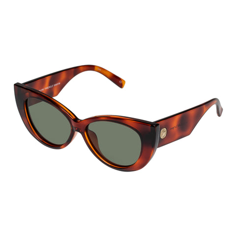 Le Specs Female Feline Fine Tort Cat-eye Sunglasses