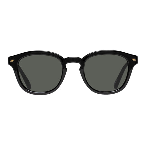 Le Specs Uni-sex Conga Black Round Sunglasses