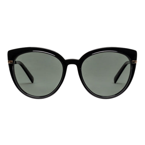 Le Specs Female Promiscuous Black Cat-eye Sunglasses