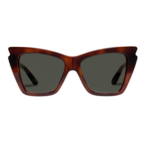 Le Specs Female Rapture Tort Cat-eye Sunglasses