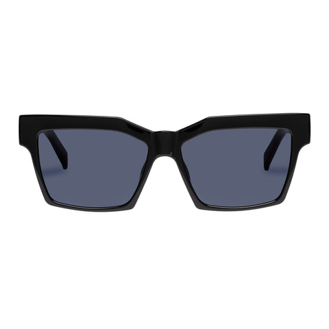 Le Specs Uni-sex Azzurra Black Modern Rectangle Sunglasses