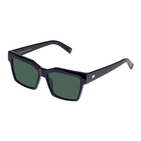 Le Specs Uni-sex Azzurra Navy Modern Rectangle Sunglasses