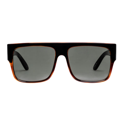 Le Specs Uni-sex Bravado Black Modern Rectangle Sunglasses