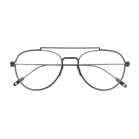 Montblanc Male Mb0001o Silver Aviator Optical Frames