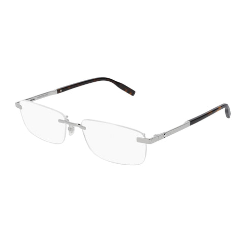 Montblanc Male Mb0023o Silver Modern Rectangle Optical Frames
