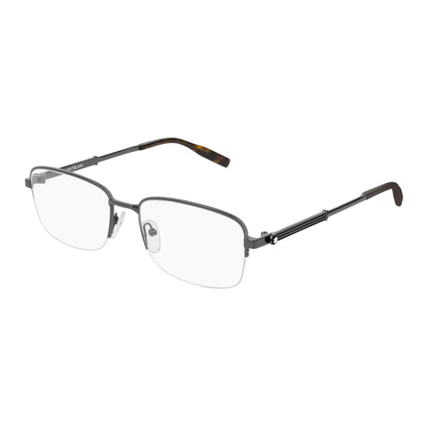 Montblanc Male Mb0028o Silver Modern Rectangle Optical Frames