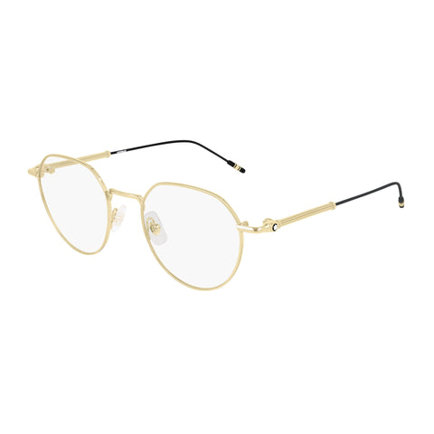 Montblanc Male Mb0060o Gold Panthos Optical Frames