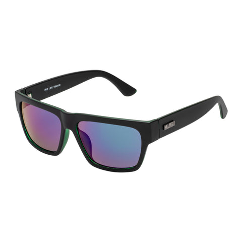 Mambo Male Irie Life Black Modern Rectangle Sunglasses