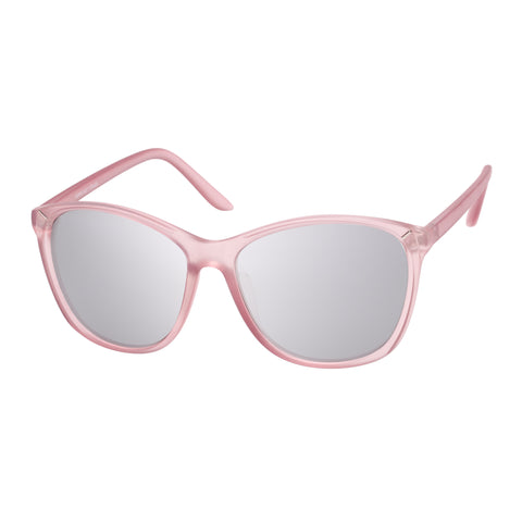 Mambo Female Tapped Out Pink Modern Rectangle Sunglasses