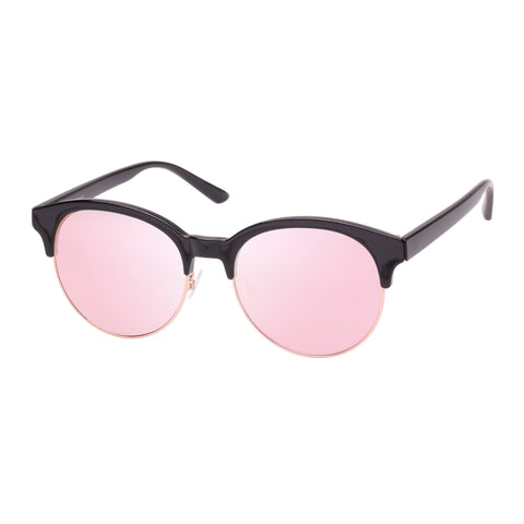 Mambo Female Deserted Black Round Sunglasses