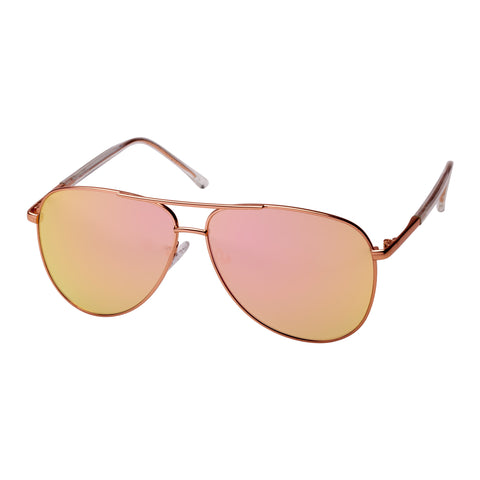 Mambo Female Bitten Rose Aviator Sunglasses