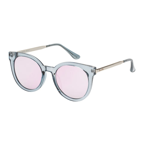 Mambo Female Liberty Grey Round Sunglasses
