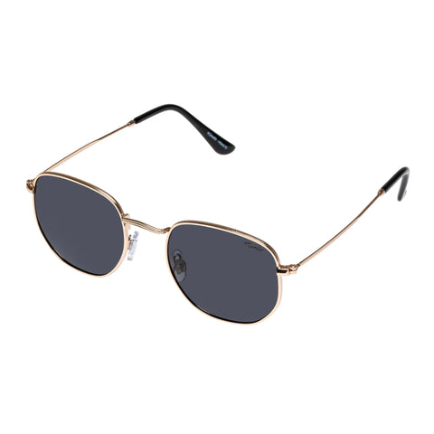 Mambo Uni-sex Roamer Gold Round Sunglasses