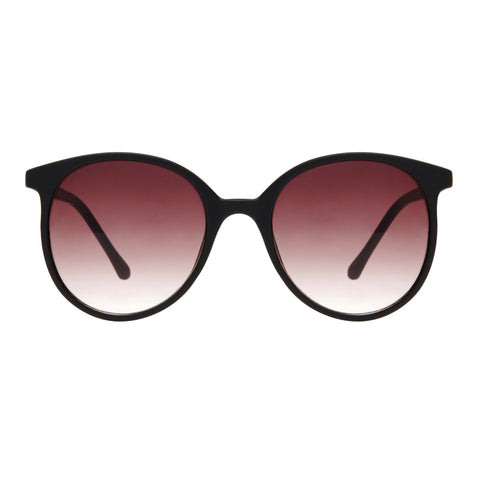 Minkpink Female Brightside Black Round Sunglasses