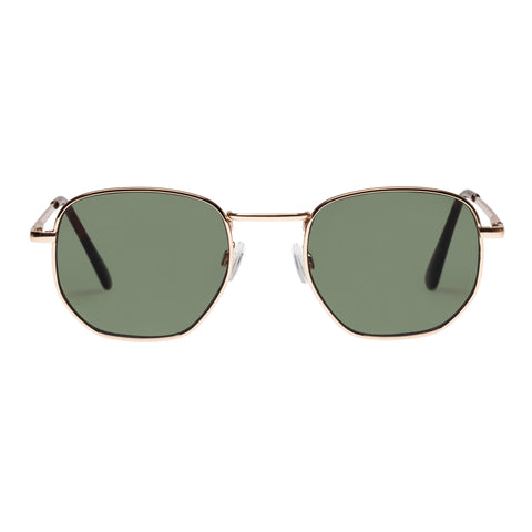Minkpink Female Golden Age Gold Octagon Sunglasses