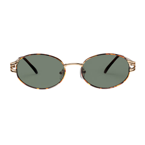 Minkpink Female Tough Love Gold Oval Sunglasses