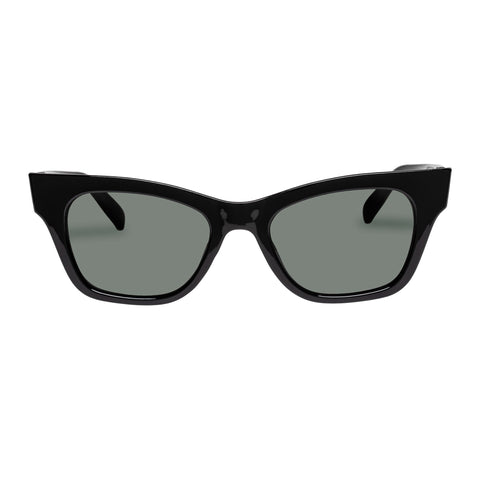 Minkpink Female Prelude Black Modern Rectangle Sunglasses
