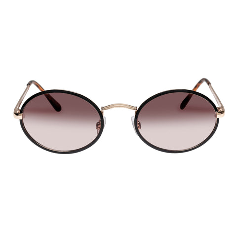 Minkpink Female Slither Gold Oval Sunglasses