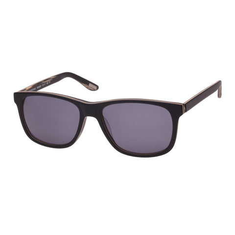 Morrissey Male Sweepstake Black Modern Rectangle Sunglasses