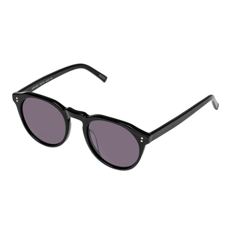 Morrissey Male Emphasis Black Round Sunglasses
