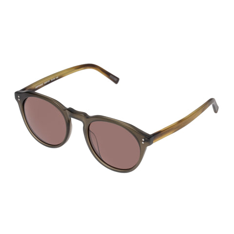 Morrissey Male Emphasis Khaki Round Sunglasses
