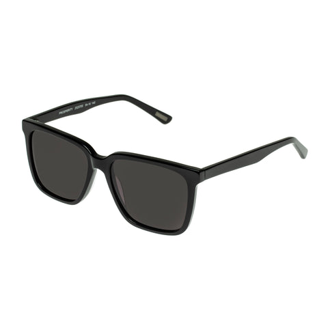 Morrissey Male Prosperity Black Modern Rectangle Sunglasses