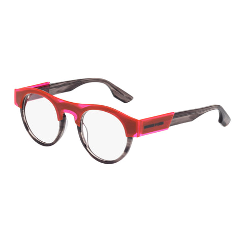 Mcqueen Female Mq0005o Tort Wrap Fashion Optical Frames