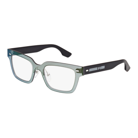 Mcqueen Uni-sex Mq0010o Green Wrap Fashion Optical Frames