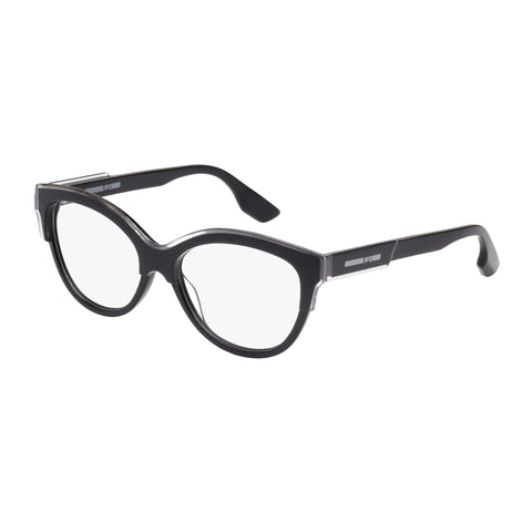 Mcqueen Female Mq0026o Black Wrap Fashion Optical Frames