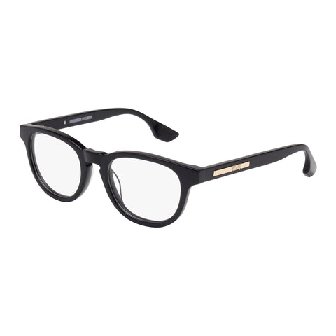 Mcqueen Uni-sex Mq0033o Black Wrap Fashion Optical Frames