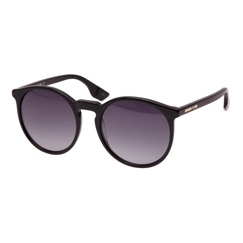 Mcqueen Female Mq0038s Black Round Sunglasses
