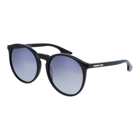 Mcqueen Female Mq0038sa Black Round Sunglasses