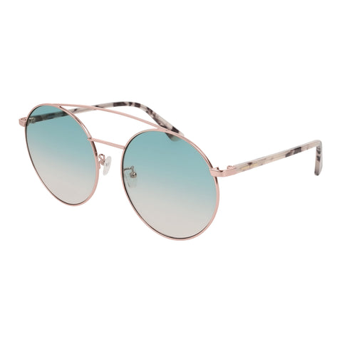 Mcqueen Uni-sex Mq0147sa Gold Round Sunglasses
