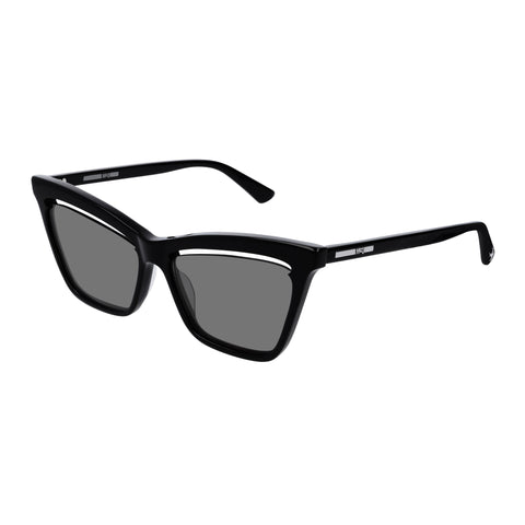 Mcqueen Female Mq0156s Black Cat-eye Sunglasses