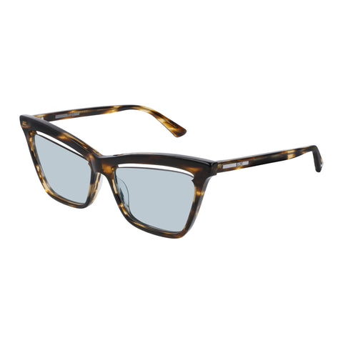 Mcqueen Female Mq0156s Brown Cat-eye Sunglasses