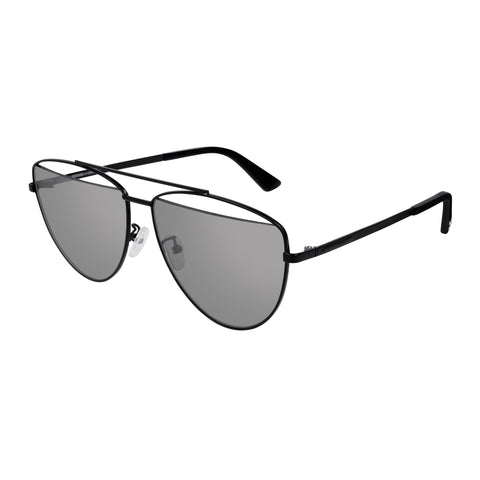 Mcqueen Uni-sex Mq0157s Black Aviator Sunglasses